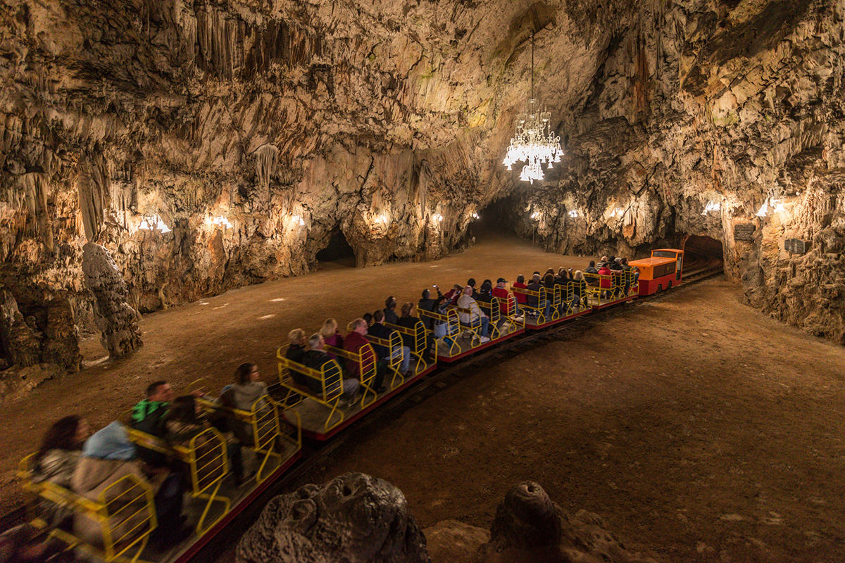 IndoEuropean Travels Europe 22 Slovenia Postojna Cave Train
