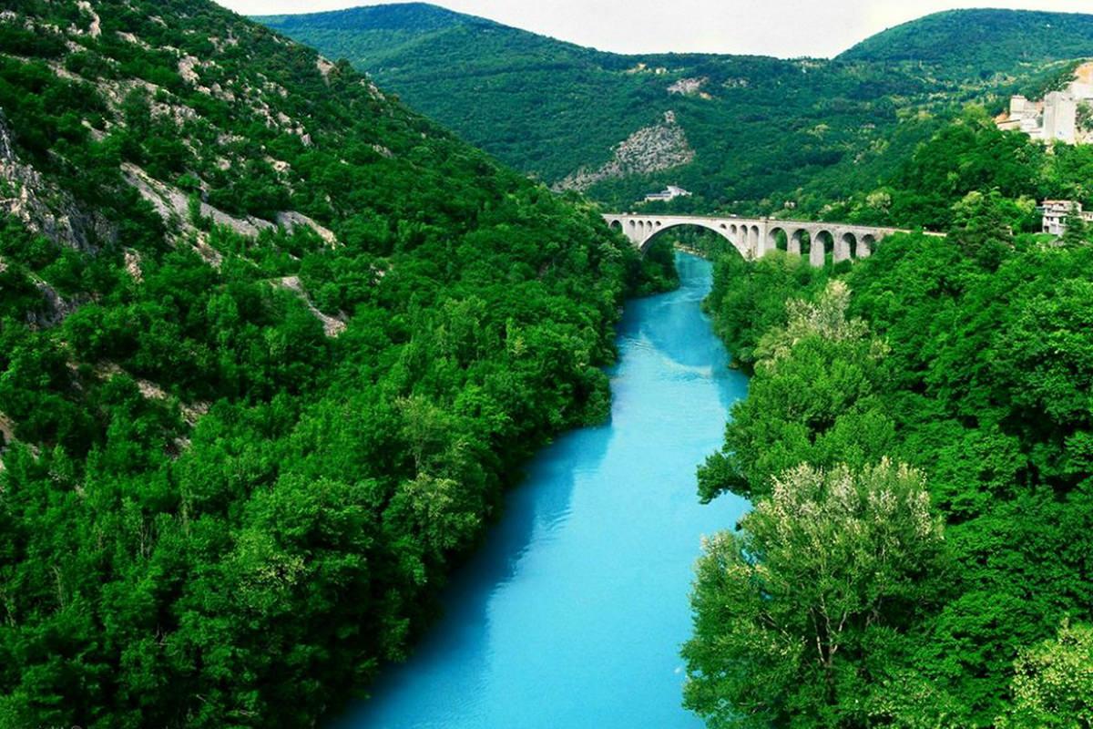 IndoEuropean Travels Europe 27 SLOVENIA Soca River