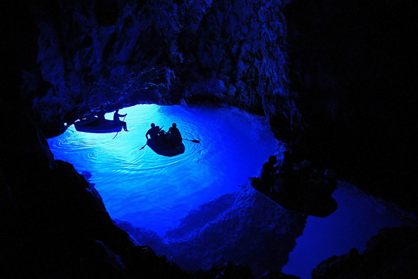 IndoEuropean Travels Europe 39 CROATIA Blue Cave