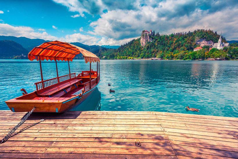 IndoEuropean Travels Europe 5 Slovenia Lake Bled Boat