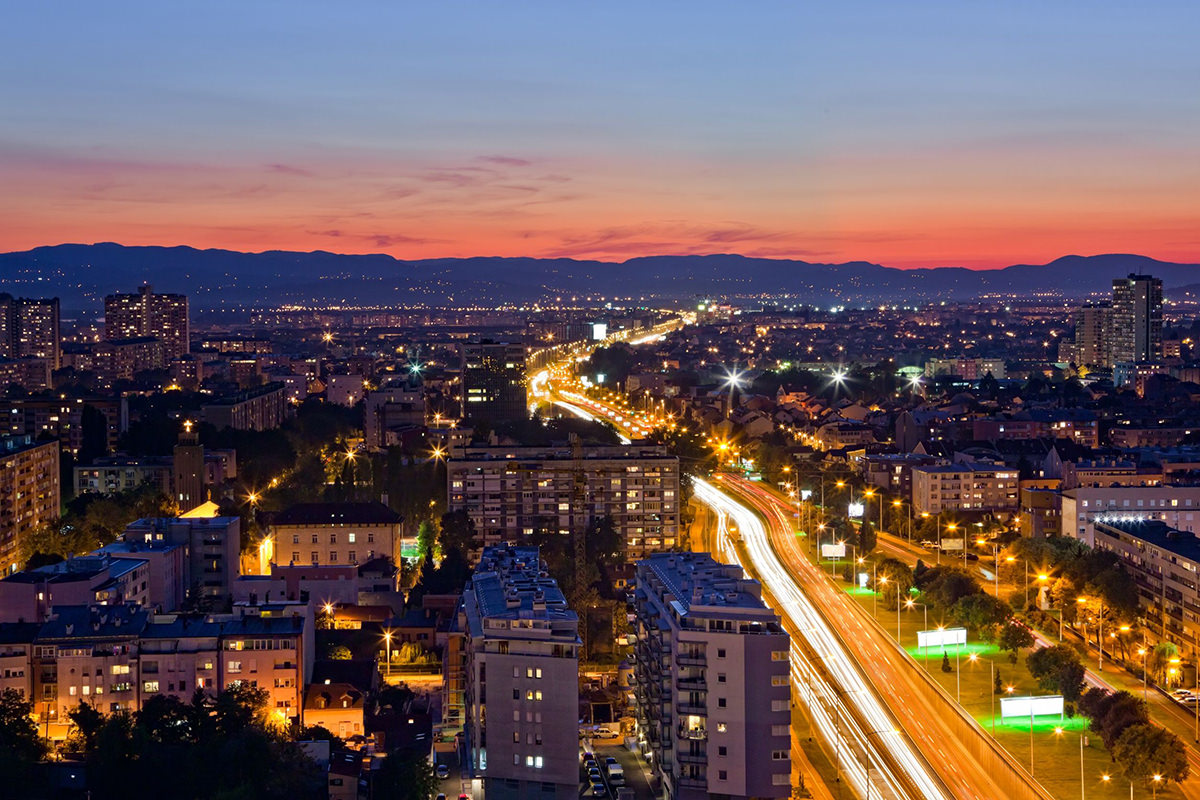 IndoEuropean Travels Europe 90 Croatia Zagreb Night