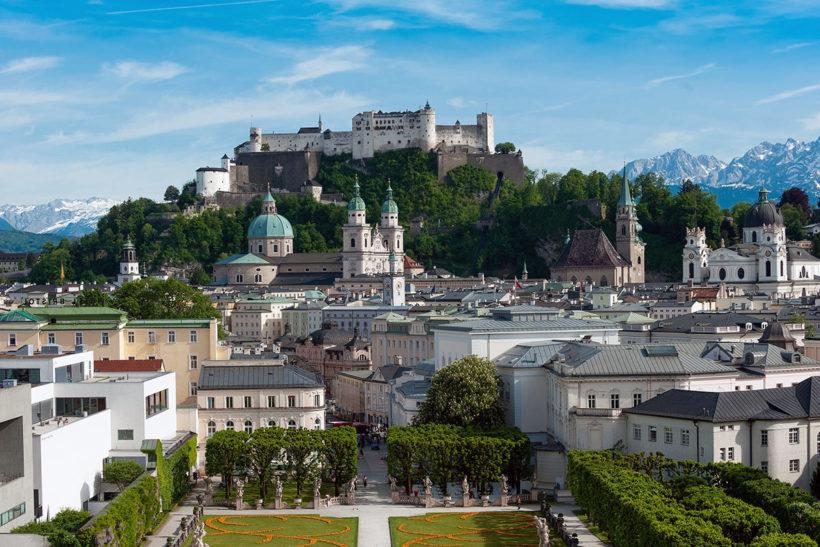 IndoEuropean Travels Europe 95 Austria Salzburg Castle