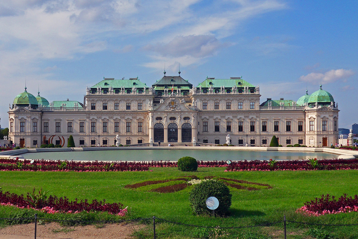 IndoEuropean Travels Europe 96 Austria Vienna Belvedere